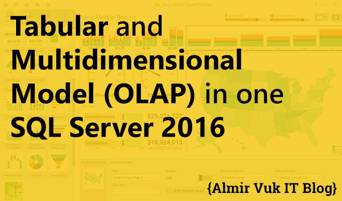 Tabular and Multidimensional Model in one SQL Server 2016
